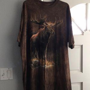 The Mountain Moose T Shirt Brown 3XL
